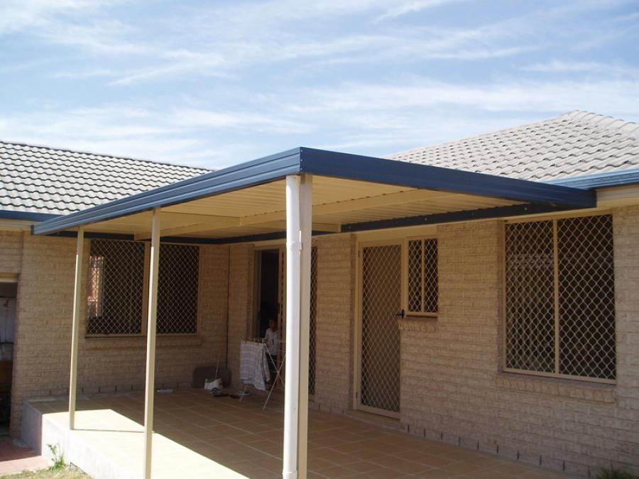 Flat Roof Awning 12
