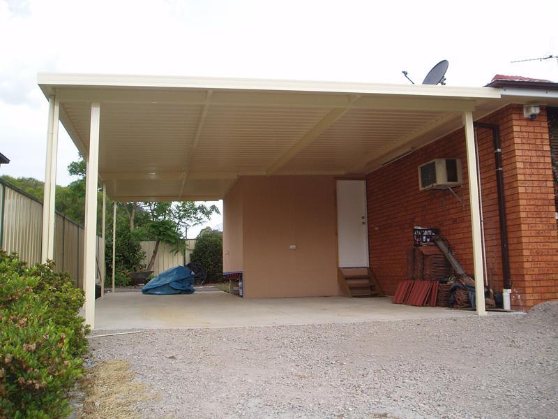 Flat Roof Carport 6
