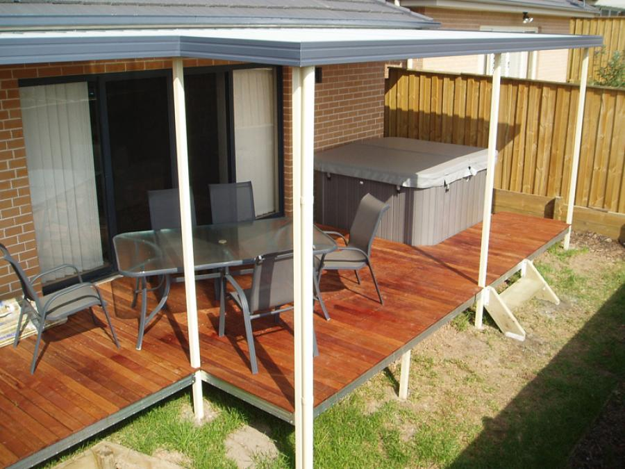 Flat Roof Awning 06