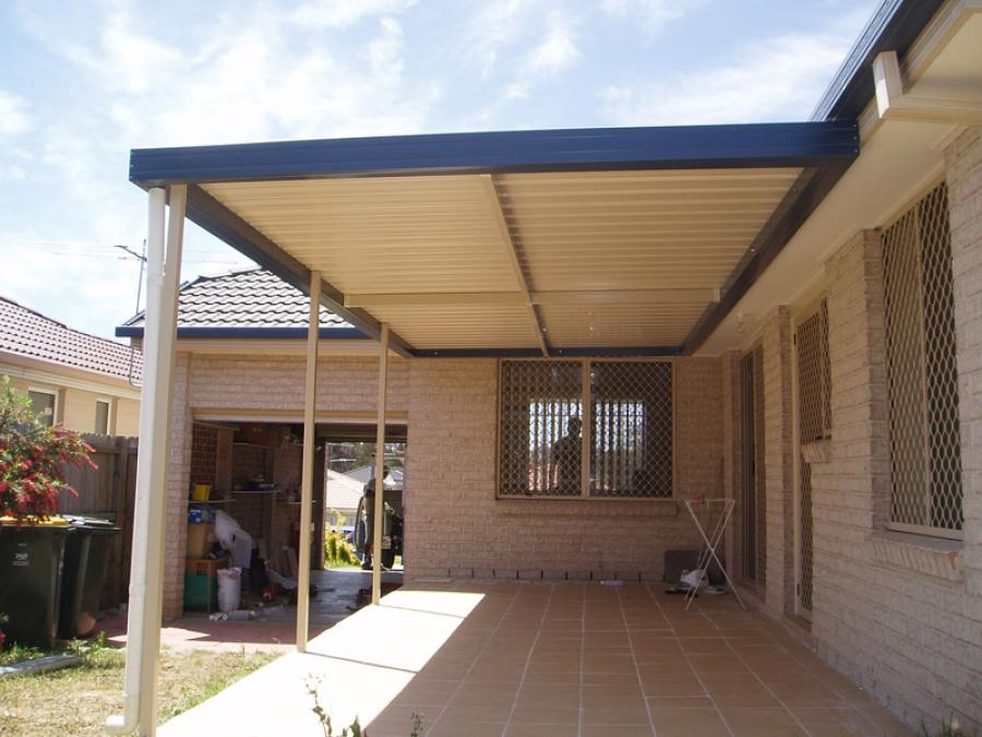 Flat Roof Awning 13