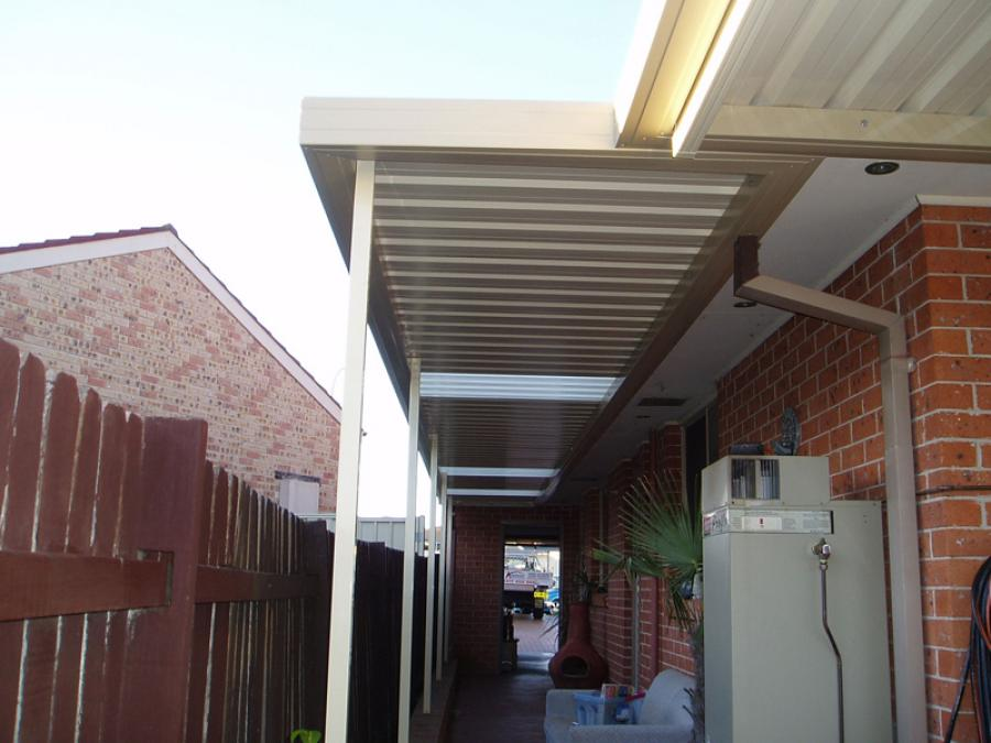 Flat Roof Awning 11